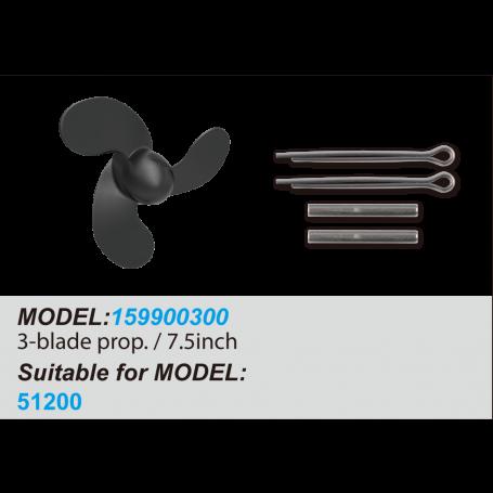 3-Blade Propeller / 7.5inch